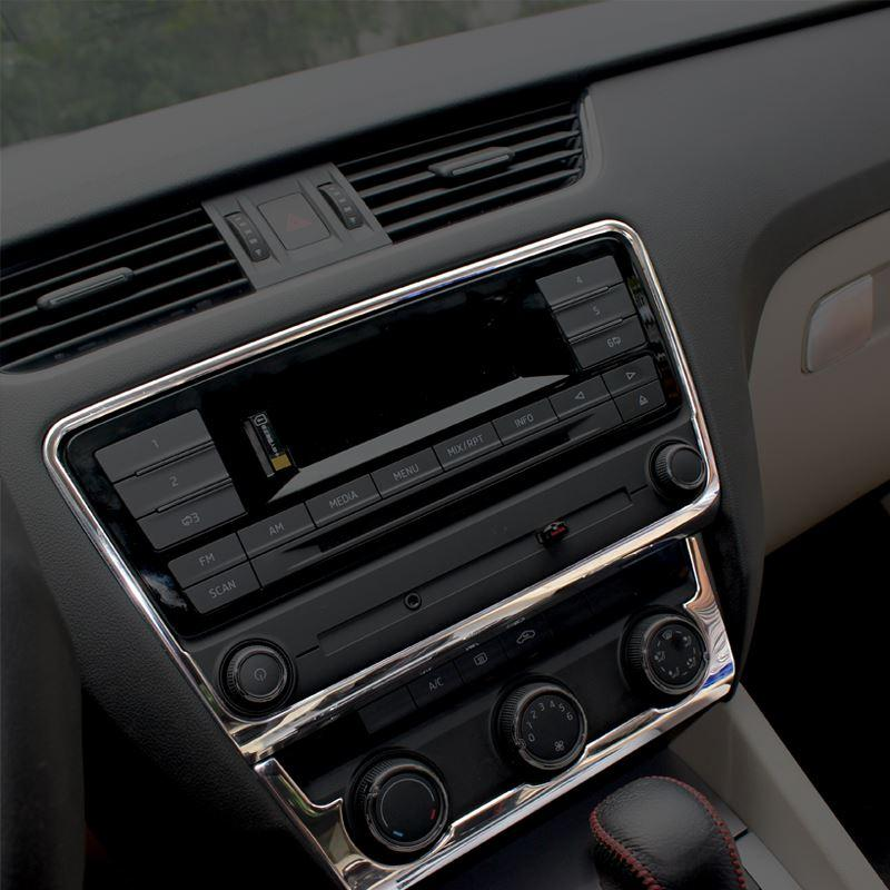 Car Styling Interior Dashboard Center Console Cd Decoration Cover ...