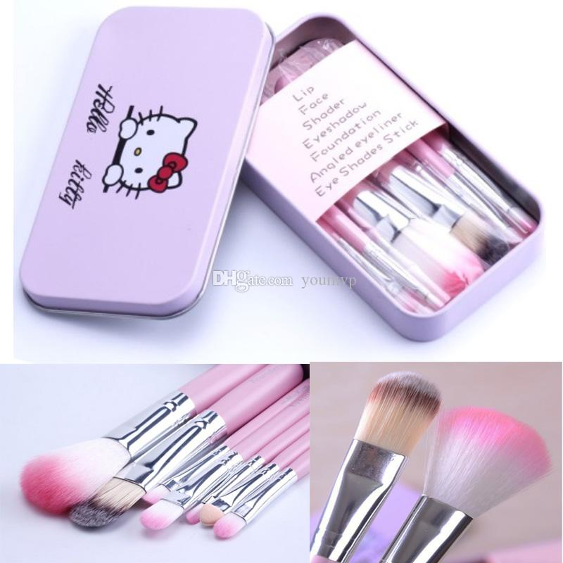557001882 Hello Kitty Brushes Kit Makeup Brushes Pink Iron Case/Toiletry Beauty  Appliances Hello Kitty Brushes Set Eyeshadow Brushes Lip Brush From Youmvp,  ...