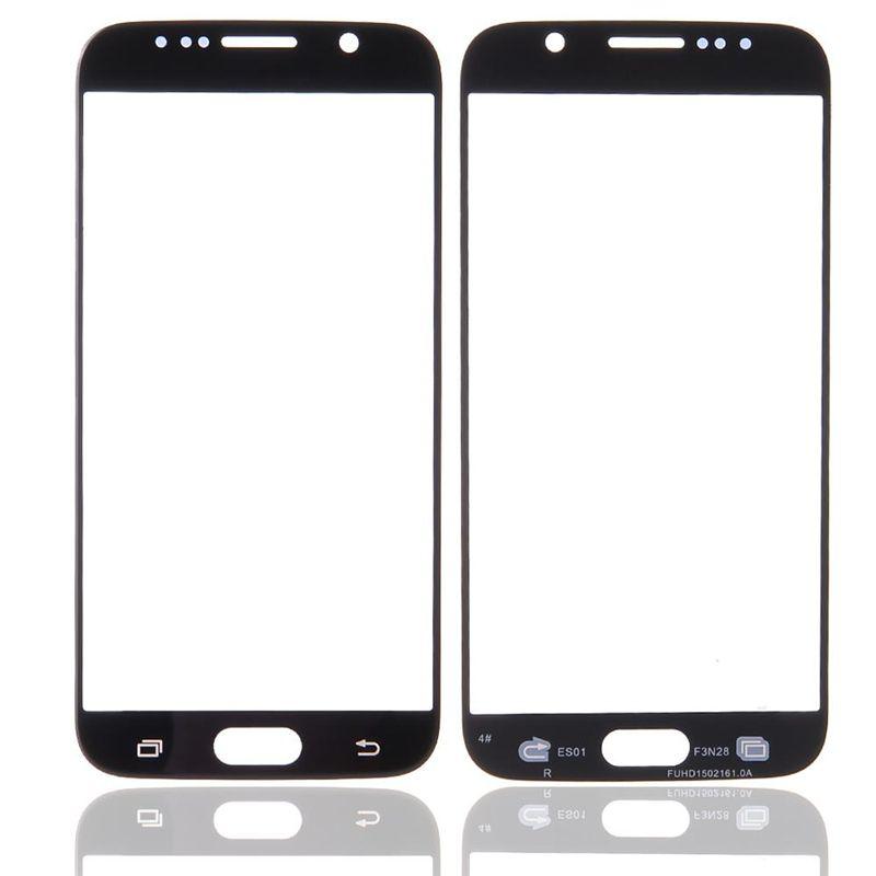 Samsung Galaxy S6 G9200 S7 G9300 ücretsiz DHL Kargo için Ön Dış Dokunmatik Ekran Cam Lens Değiştirme