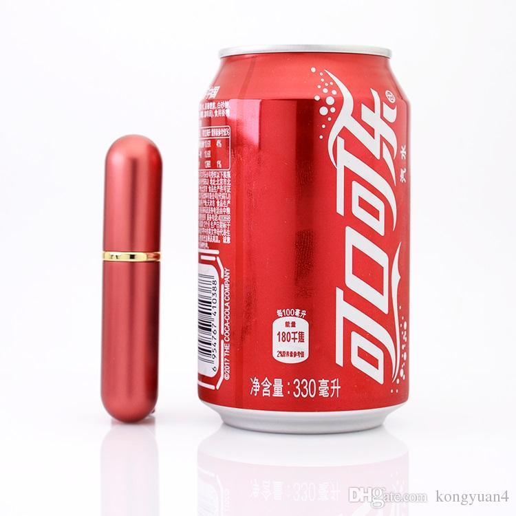 5 ml-6 ml Garrafa De Vidro De Alumínio Presente Frascos De Perfume De Alta Qualidade Recarregáveis 5-6ML Mini Metal Shell Perfume-garrafa Perfume Atomizador