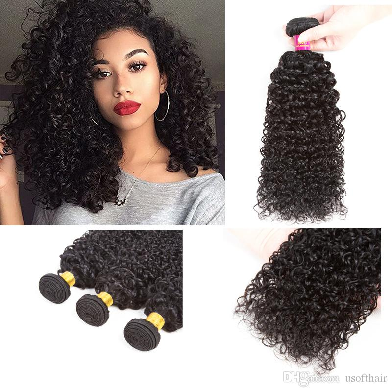 Brazilian Virgin Curly Hair 3 Bundles Weave 100 Unprocessed