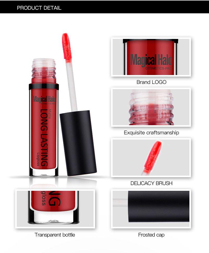 Magical Halo Moisturizer Matte Lip Gloss Lipstick Long Lasting Lip Gloss Waterproof Lipgoss Various Tint Makeup 0314