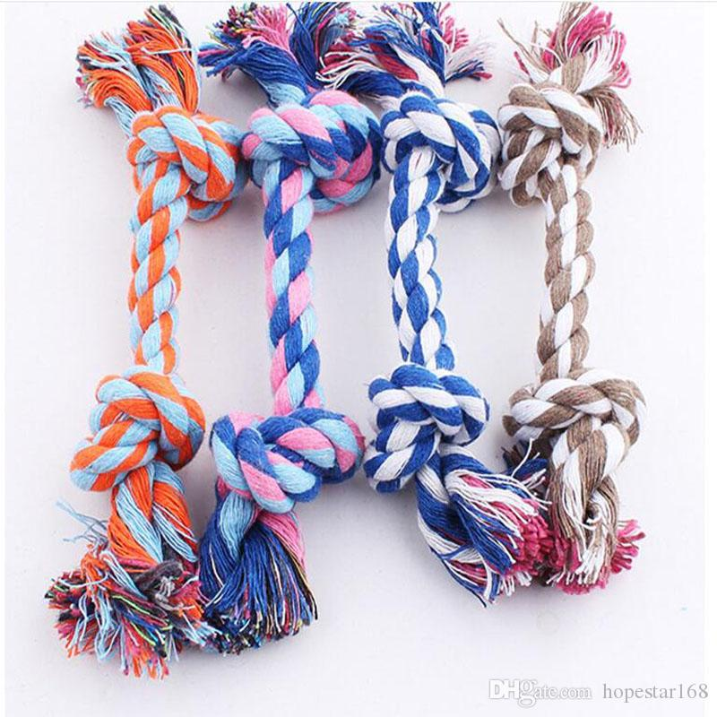 Pets dogs pet supplies Pet Dog Puppy Cotton Chew Knot Toy Durable Braided Bone Rope 17CM Funny Tool