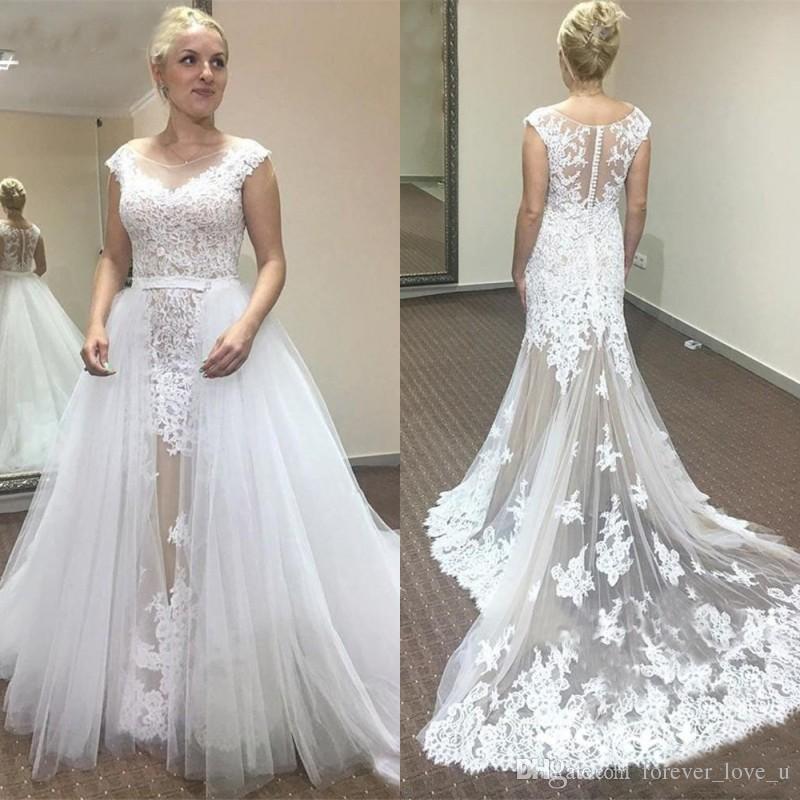 compre vestidos de novia de champagne y blanco con falda de tul