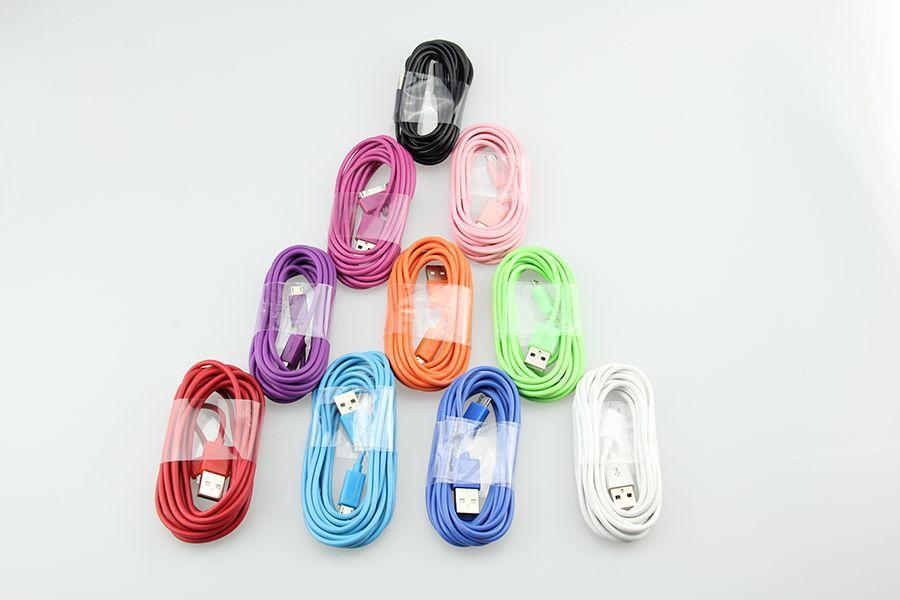 고품질 마이크로 USB 케이블 / V8 1M 삼성 전자 S4 S4 S5 Xiaomi Mi4 3 HTC 충전 충전기 케이블 / lot에 대 한 2m 3m USB 칼브