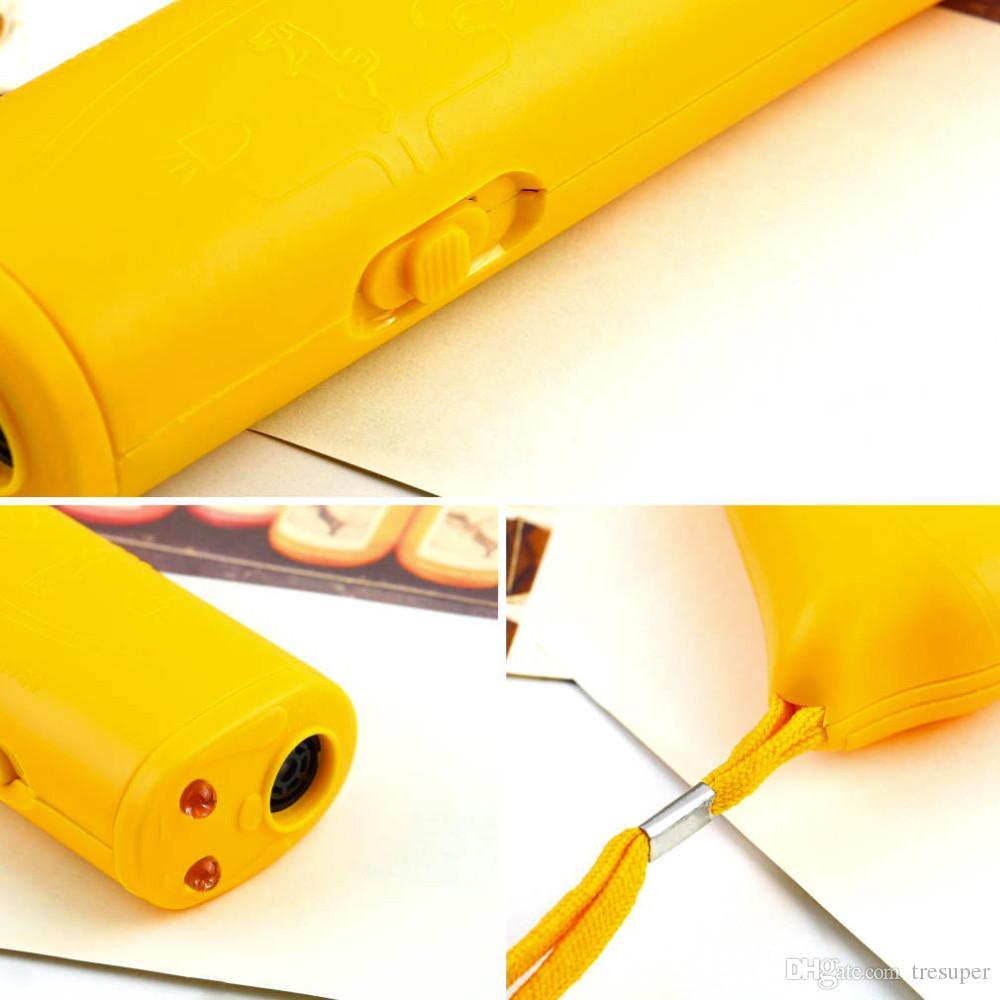 LED ультразвуковой анти-лай лай собака обучение отпугиватель управления тренер устройство 3 в 1 анти-лай стоп кора собака обучение устройство