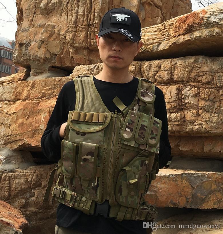 Venda quente de Alta Qualidade Ao Ar Livre campo CS mais tactical vest bag match chatelaine fã multicolor de colete de treinamento Americano