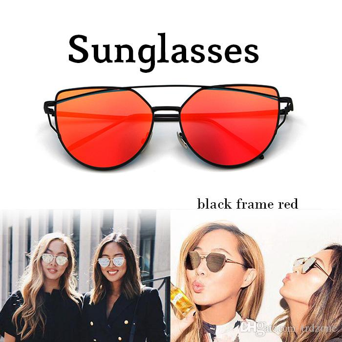 88f9c68f4d Womens Sunglasses Trendy Cat Eye Fashion Sunglasses Brand Woman ...
