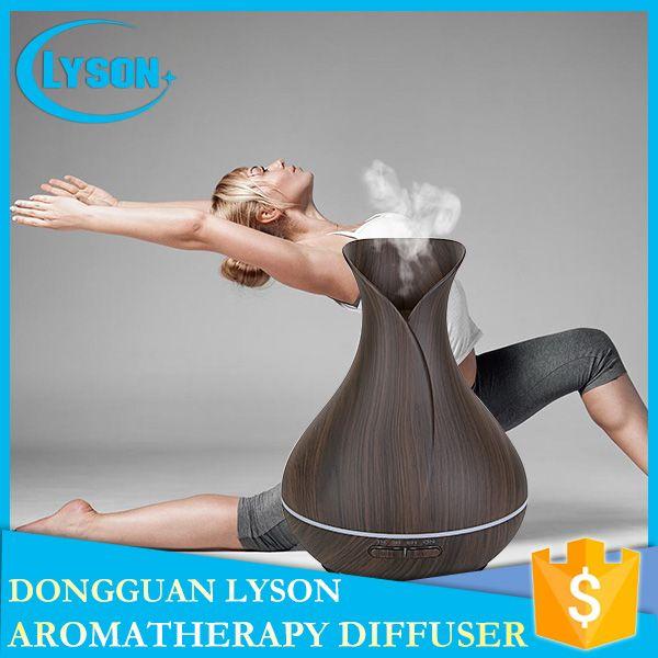 es LED Mood Mist 300 ml difusor de aromaterapia de aceite esencial ultrasónico Cool Mist grano de madera difusor de aroma humidificador