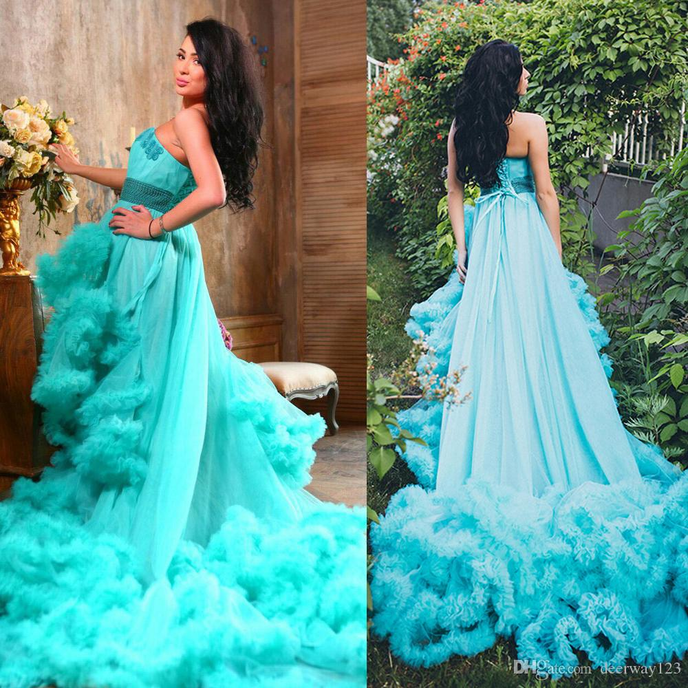 Hot Sale Semi Sweetheart Cloud Prom Dress Beadings Appliques With ...