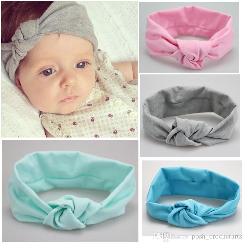 Cotton Baby Knot Headbands Stretch Baby Headbands Knotted Newborn Headwraps  Baby Sailor Knot Headband Girls Head Wraps Toddler Turban Cute Girl Hair ... ac95f36dd2d