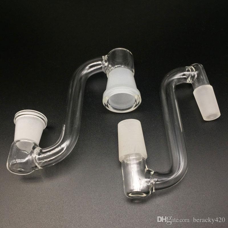 Glass Drop Down Adapter 14.4mm 18.8mm Männlich Weiblich Glass Drop Down Adapter Für Beveled Edge Quarz Banger Glaspfeifen Ölplattformen