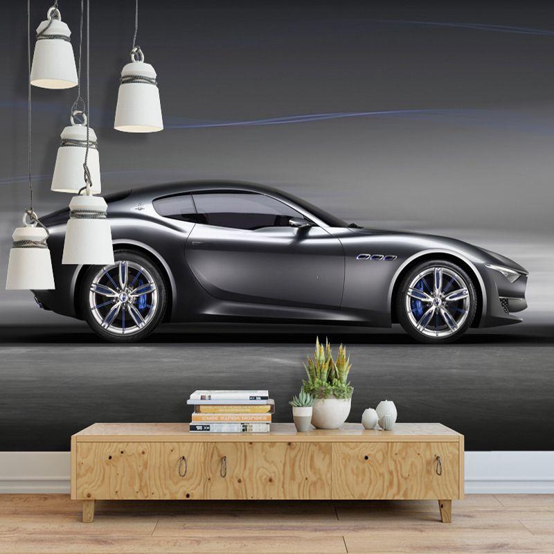 Пользовательские Фото Обои 3D Кирпичные Стены Фрески Автомобиль Черный Робот Сломанные Стены Обои Для Детской Комнаты КТВ Бар Кафе Фон Декор
