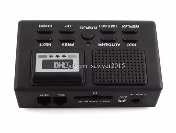 Mini Digital Telephone Voice Recorder Phone Call Monitor With LCD Display phone voice recording box Support SD Card with retail box