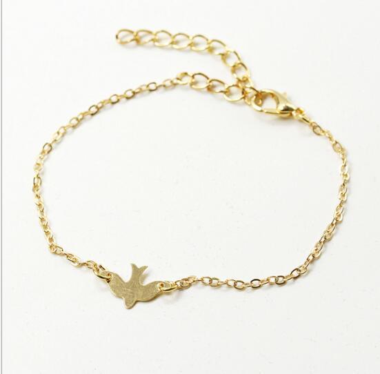 Designs Silber Friedenstaube Armband Soar Flying Birds Armband Little Cute Charm Swallow Vogelbaby Armbänder Abstrakte Armbänder 2017