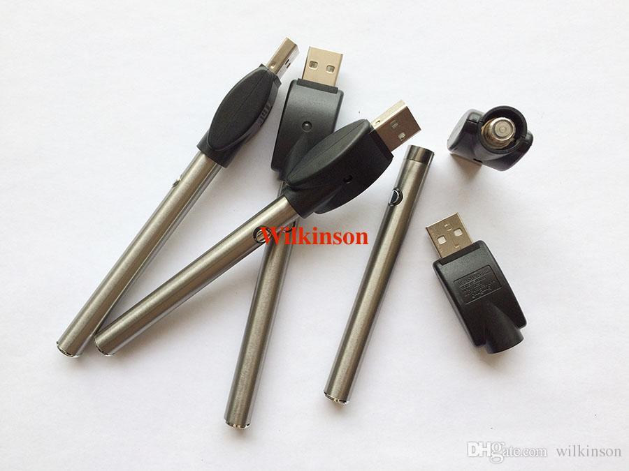 DHL Free Manuel Batterie avec Chargeur USB Bouton O-pen Vape stylo 280mAh Vape Pen Batterie Bud Touch Batterie pour ce3 vaporisateur