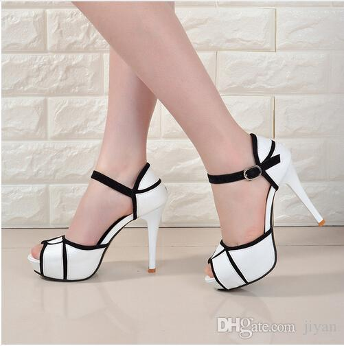 5bf8fa30eba Wholesale Low Price 2017 Fashion Womens Shoes Peep-toe Pumps Sexy ...