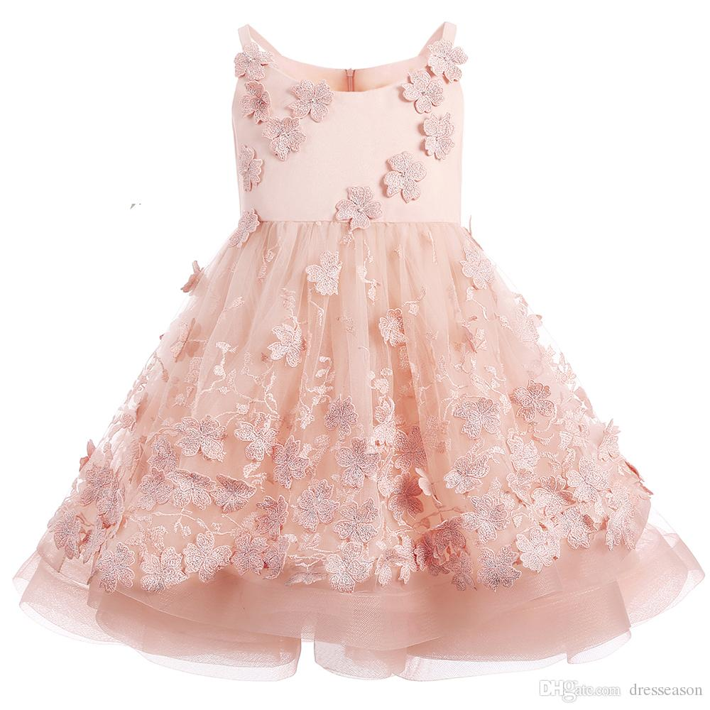 Compre Vestido De Verano De Las Muchachas De La Boda Una Línea De ...