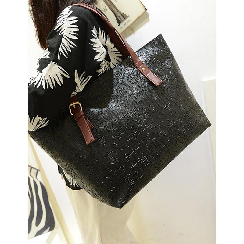 4e8d33990aef Wholesale-New Casual Ostrich PU Leather Women Shoulder Bags Fashion ...