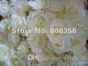 Wholesale  - クリームアイボリー100p人工シルクカムリアローズ牡丹フラワーヘッド8cm