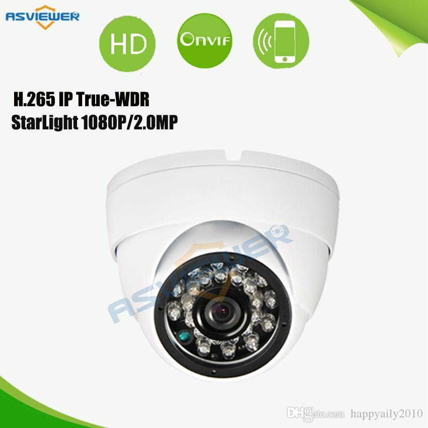 H.265 Verdadeiro WDR Estrela luz 2MP Câmera de Segurança IP IMX290 Sensor IR Vadal prova ONVIF IP Câmera AS-IP2203SD