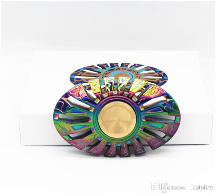 2017 hot finger spinner rainbow color thor fidget spinner for Fish fidget spinner