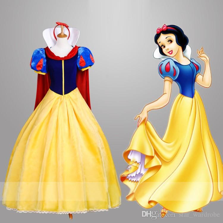 2017 Top Quality Adult Snow White Fancy Dress For Women Movie ...