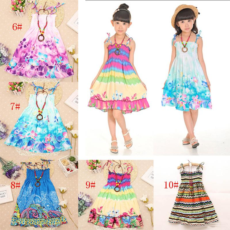 6a027aa4e0 2019 Girls Dress Summer Beach Bohemian Kid Dresses For Girls Shoulderless Clothes  Children Clothing Sundress Child Costume Floral From The one