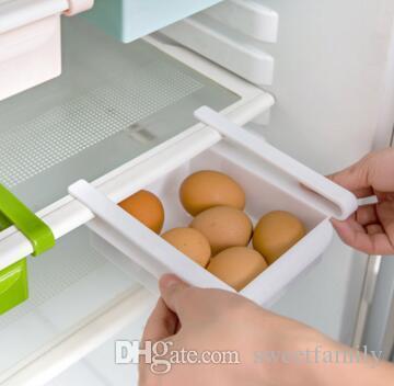 Gaveta de prateleira de gaveta cozinha geladeira armazenamento de mesa organizador titular rack de caixa