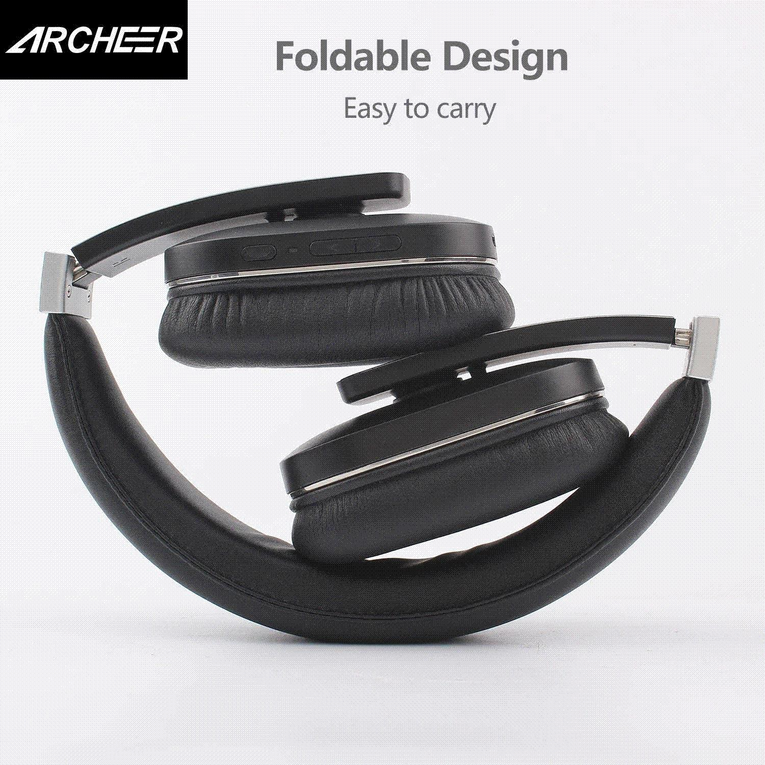 f4707438ec4 New Archeer AH07 NFC Bluetooth Headphone Wireless Stereo Foldable Headphone  With Mic Soft Ear Cups Adjustable Headset Noise Cancelling Headphones  Headset ...