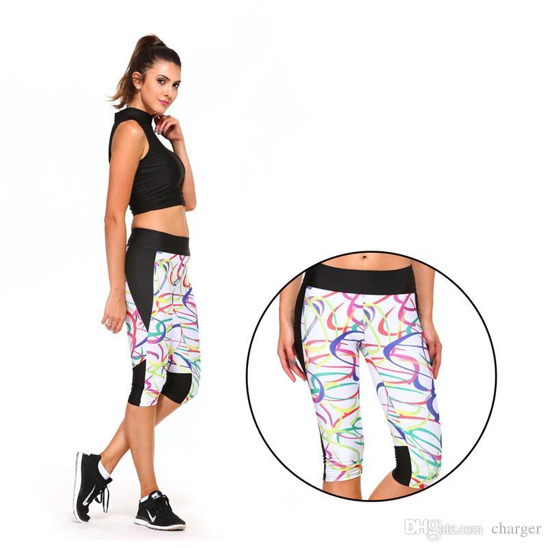 Acheter En Plein Air Femmes Yoga Courir Sport Exercice Élastique Taille  Haute Leggings Gym Mince Recadrée Pantalon Impression Pantalon 2501057 De   4.27 Du ... 7d2f07996f0