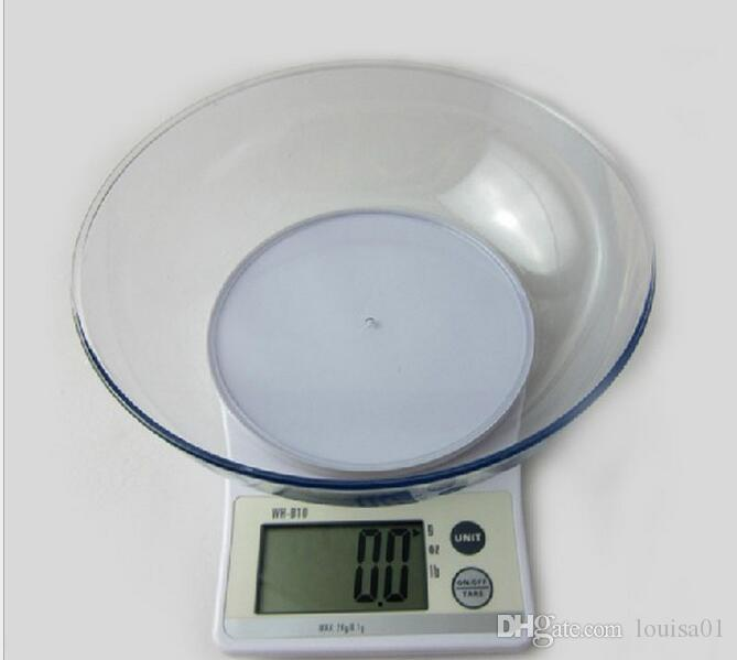3kg/0.1g WH-B10 With Bowl Kitchen Scales Digital Scale Nutrition Scale Food Scale Baking Blue Backlight Electronic Digital Scales