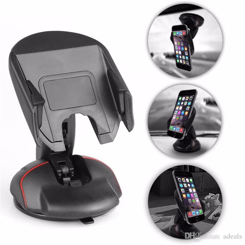 360 Grad Universal im Auto-Armaturenbrett-Zellen-Handy GPS-Einfassungs-Halter Standplatz-Aufnahmevorrichtung für iPhone 5 6 6S Galaxie S4 S5 S6