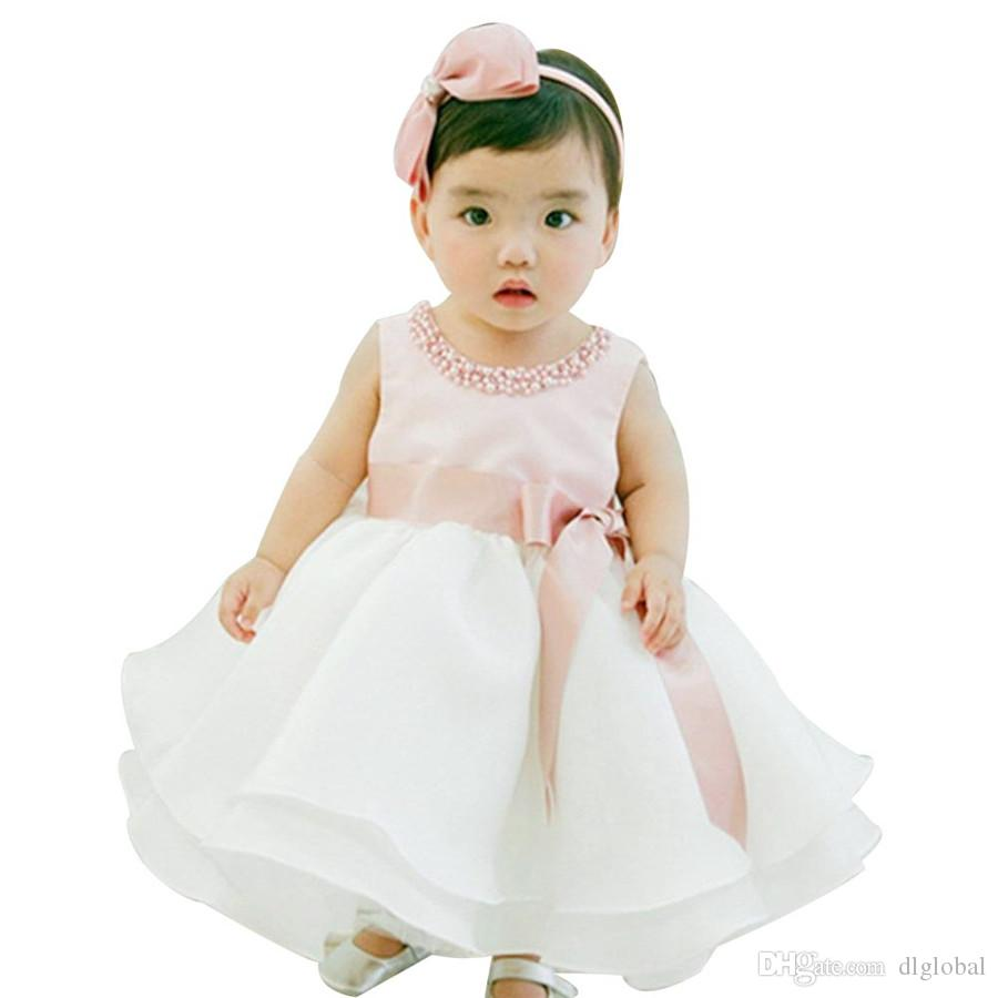 2019 New Infant Baby Girl Wedding Dress Baptism Christening Gown