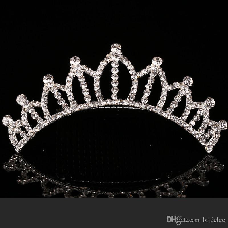 2018 Trendy 10 Arten Günstigste Glänzende Strass Crown Mädchen Braut Tiaras Mode Kronen Braut Zubehör Für Hochzeitsereignis