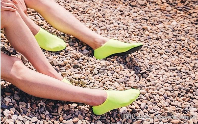 Deportes acuáticos Buceo Calcetines Niños Adultos Antideslizantes Calcetines de playa Tela transpirable Secado rápido Natación Surfing Traje mojado Zapatos