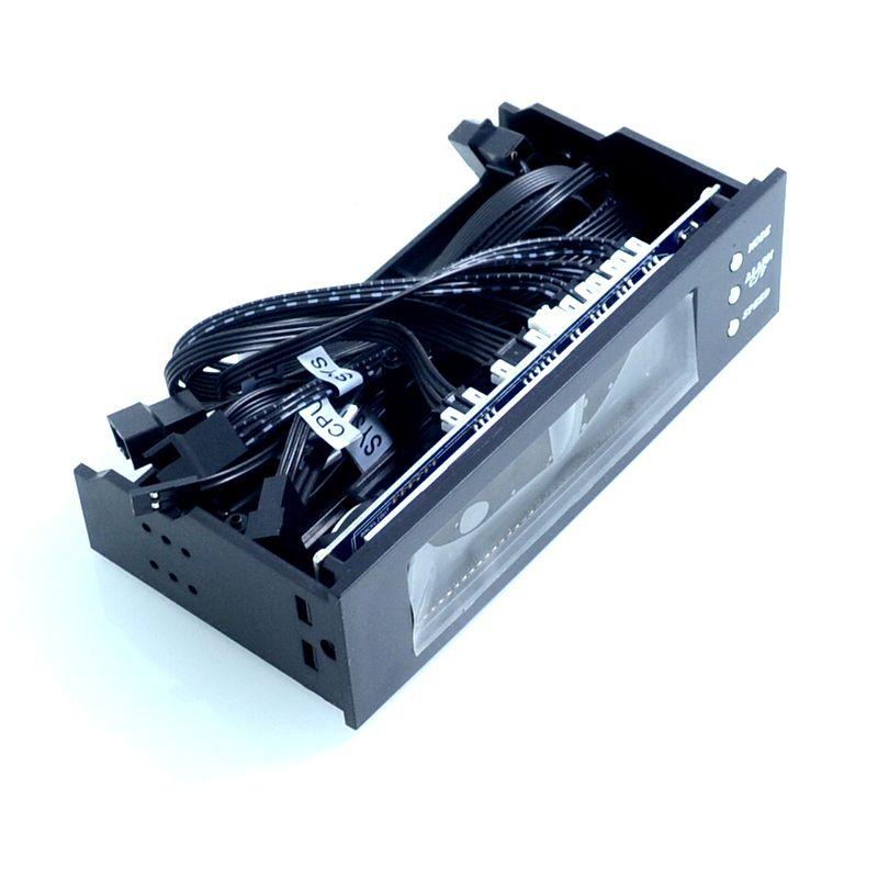 nouveau contrôleur de ventilateur STW-5023 contrôleur de vitesse de ventilateur châssis de lecteur optique panneau avant 3 broches 12 V ordinateur radiateur thermostats