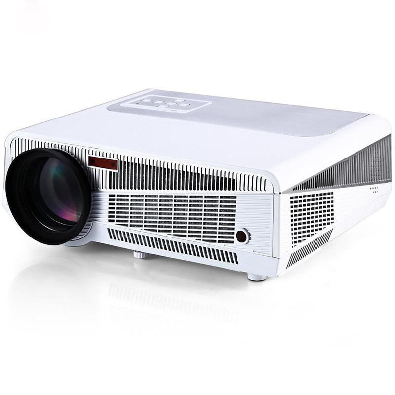 Vente en gros - HTP LED-86 + Full HD 1080 P Multimedia LED 3600 Lumens fiable Projecteur Blanc WiFi Support TV HDMI VGA AV USB Entrée RJ45