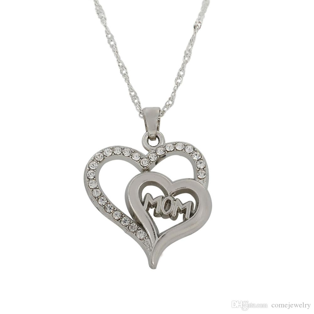 Wholesale Simple Design Hollow Hearttex Silver Gold Color Heart