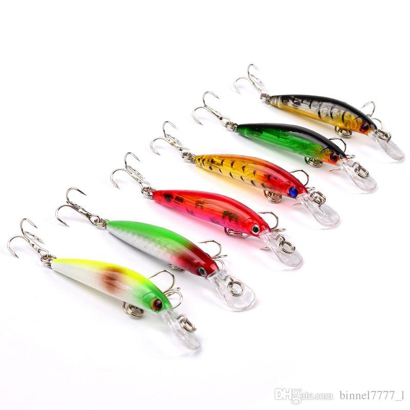 e 7 centimetri 3.3g Minnow Pesca Ganci ami 8 # gancio in plastica dura esche Esche Pesca Pesca Tackle Accessori V-62