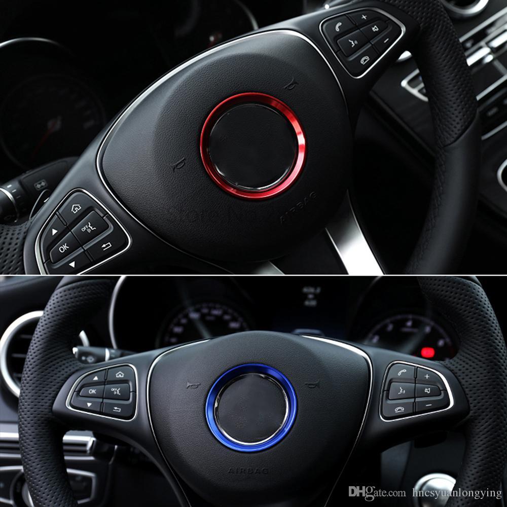 car steering wheel emblem decorative circle ring modified 3d