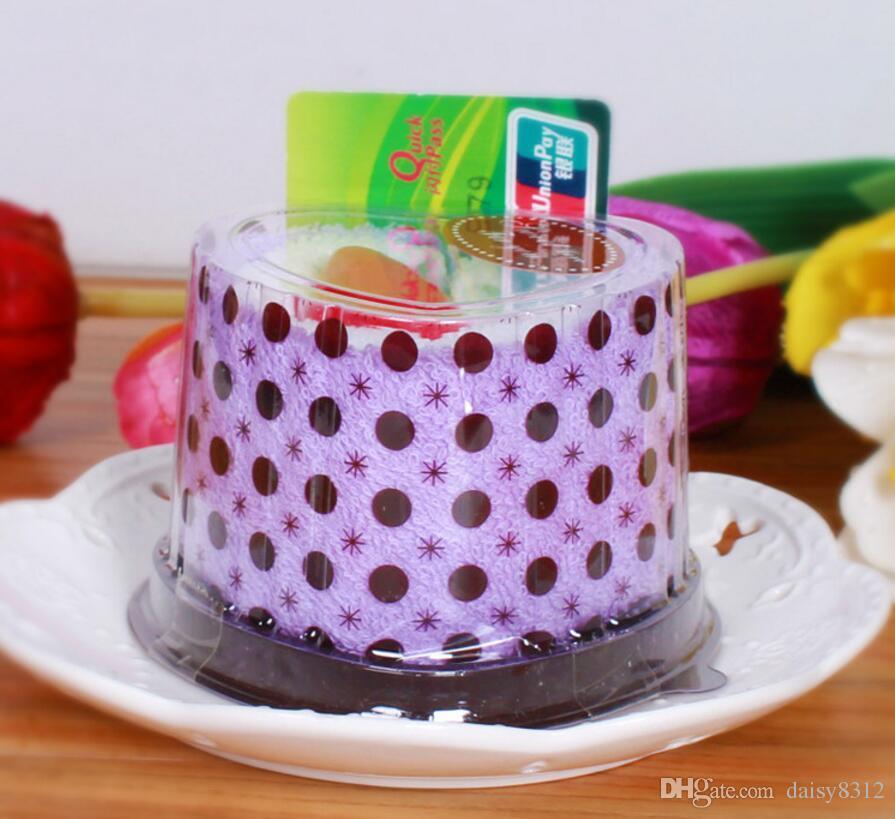 Mixed color Heart Cake Style Towel Fibre Creative Towels For Wedding Party Birthday Favor Gift Souvenirs Souvenir
