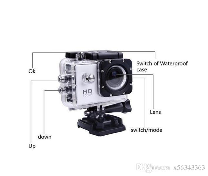 10 unids SJ4000 1080 P Full HD Action Digital Sport Camera 2 pulgadas de pantalla bajo prueba de agua 30M DV Grabación Mini Sking Bicicleta Foto Video Cam
