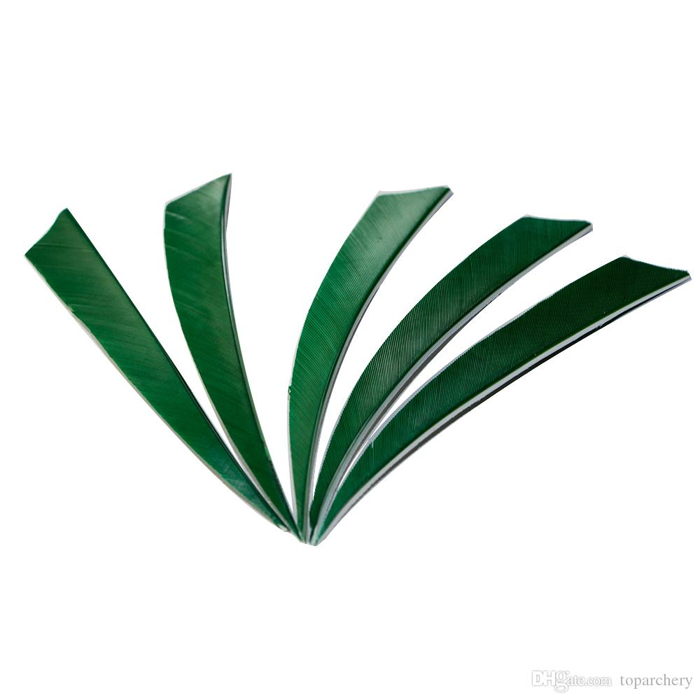 5'' Left Wing Feathers for Glass Fiber Bamboo Wooden Archery Arrows Hunting and Shooting Shield