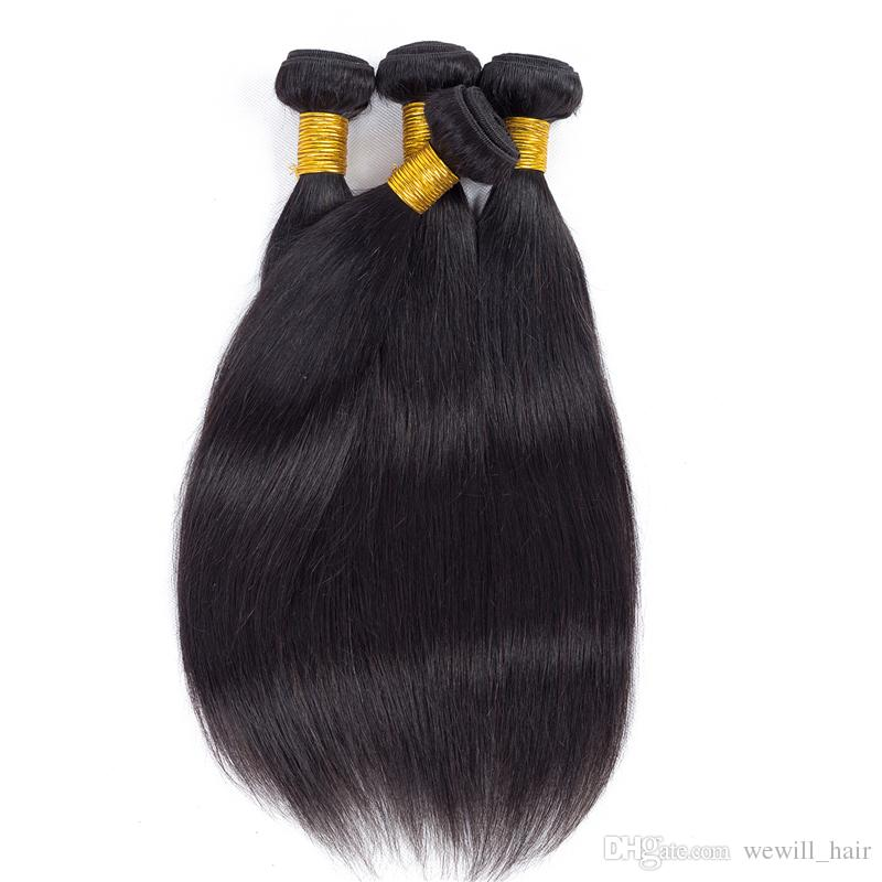 On Sale Popular Brazilian Virgin Hair Weave Bundles Wholesale Straight Human Hair Extensions Silk Soft Hair Wefts Daily Deals Just for you