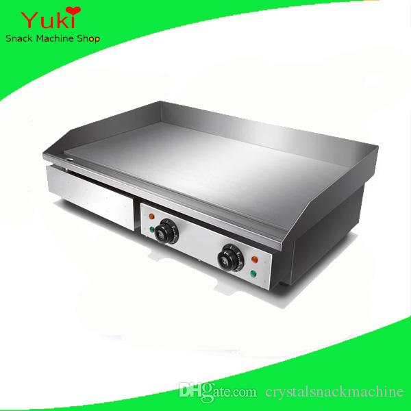 Popular Electric Griddle Machine Stainless Steel Griddle Pan Pancake Maker Commercial Pancake Making Machine Meat Griddle
