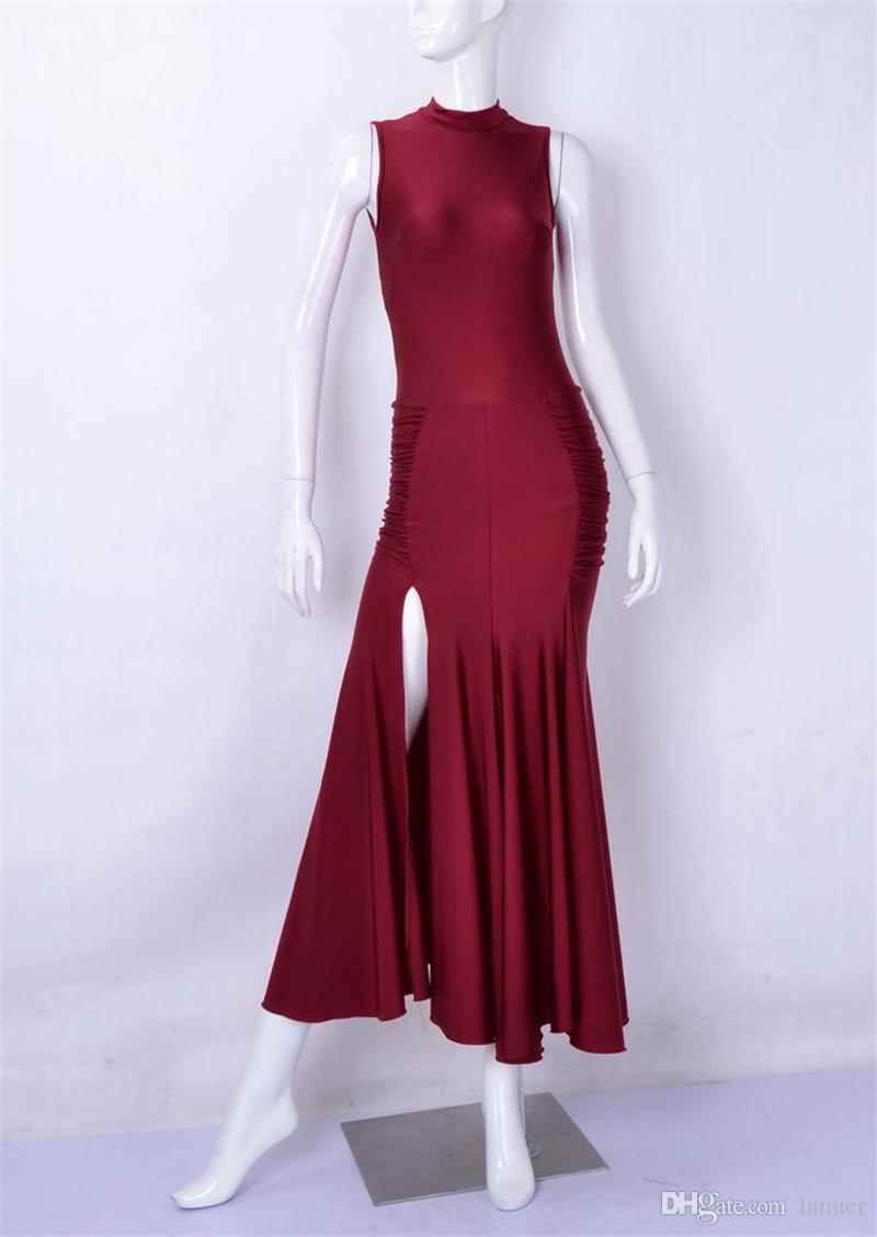 NUEVA danza moderna sexy vestido sin respaldo adultos Waltz Tango Foxtrot quickstep traje de competencia de baile estándar falda de baile de salón custom01