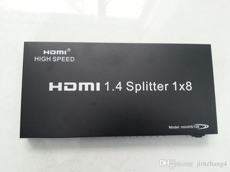 Ibay-hs108, envío gratis, suministro de fábrica, divisor HDMI, 8 puertos HDMI splitter-HDMI1-8 3D, entrada de 1 puerto salida de 8 puertos