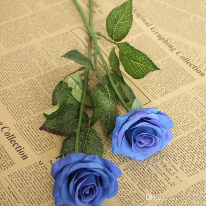 Hot Sale Rose Fake Artificial Silk Flower Wedding Party Bridal Bouquet Home Decor E00593 OSTH