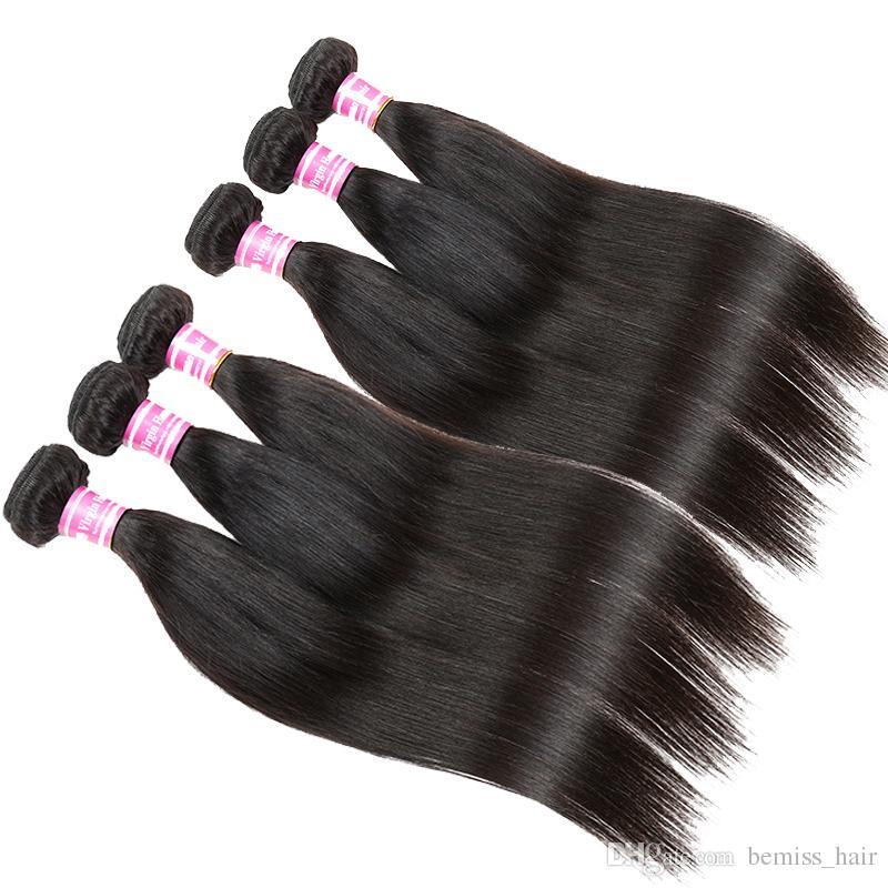 2017 Top Fashion Bemiss Brésilien Malaysien Indien Cambodgien Mongol Péruvien Vierge Extensions de Cheveux Humains Droite Huge Stocks Cheveux Humains